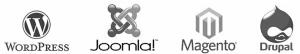 Content Managementsysteem CMS logo's